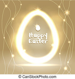 Easter warm abstract background greeting