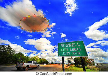 Roswell UFO - Rosewell home of the flying saucer\\\'s.