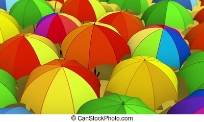 Umbrellas - Rotating colorful umbrellas