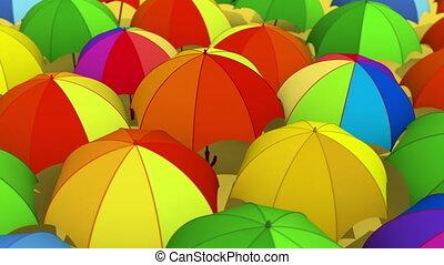 Umbrellas - Rotating colorful umbrellas