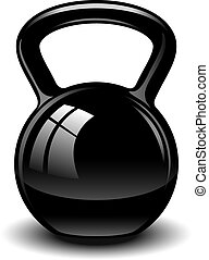Kettle bell over white EPS 10, AI, JPEG