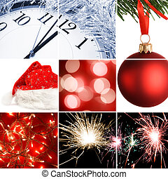 Christmas eve - holiday concept made from my images, special...