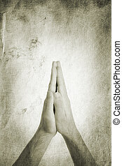 prayer - religion concept, made from my images, focus point...