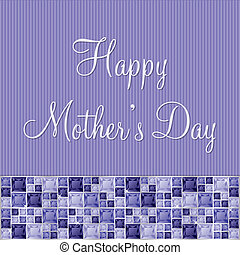 Happy Mother's Day! - Purple two toned Mother's Day gem card...