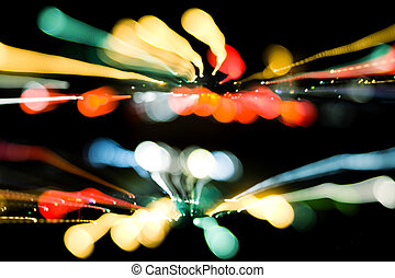 urban lights - abstract lights, made from my images and...