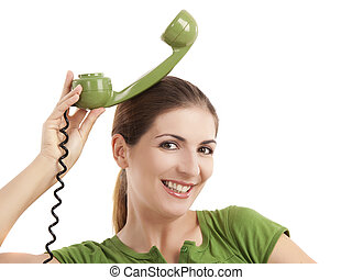Silly telephone girl