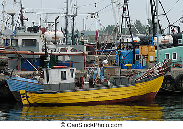 Fishing Boat Port in Wladyslawowo, Poland - Fishing Vessels...