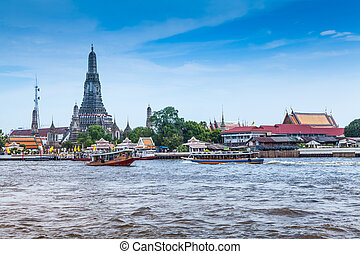 Temple of Dawn - View of Temple of Dawn in Bangkok, Thailand...