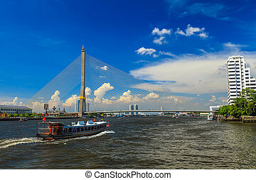 Bridge Rama 8 - Landscape Bridge Rama 8 in Bangkok Thailand