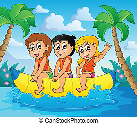 Water sport theme image 6 - eps10 vector illustration