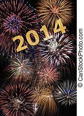 nowy, rok, 2014, fajerwerk