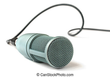 condenser microphone isolated on a white background