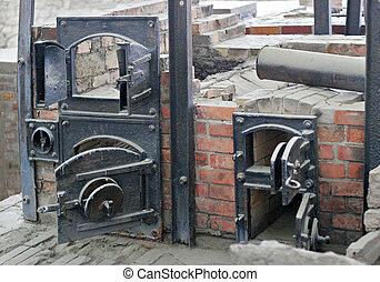 Nazi ovens - Ruins of Sachsenhausen nazi cremation ovens