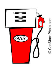 Gas Pump - Red Gas Pump