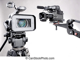 two camcorders - stand high-definition camcorder and...