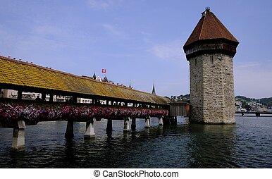 Luzern Switzerland old bridge