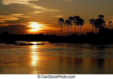 Sunset Zambezi - The Victoria Falls and Zambezi in Zimbabwe