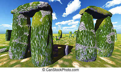 Stonehenge sanctuary near Amesbury in England