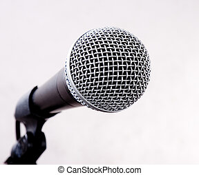 microphone - close-up professional sudio microphone with...