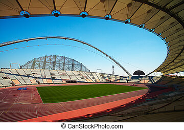 Khalifa Sports Stadium - Inside Khalifa sports stadium in...