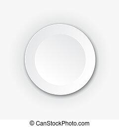 White round vector button