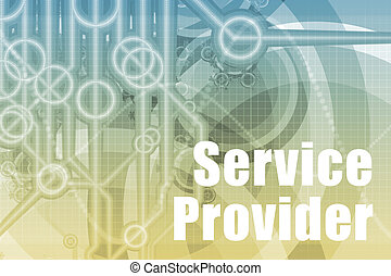 Service Provider Abstract Background in Blue Color