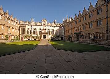 Oriel College Oxford - The Front Quad here at Oriel College...