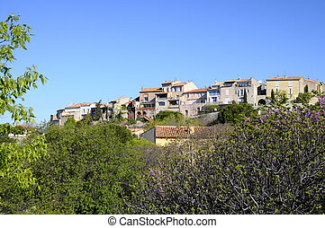Village of Castellet in France - Feudal village of...