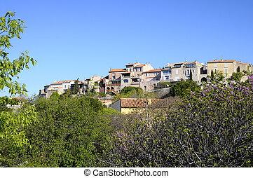Village of Castellet in France - Feudal village of...