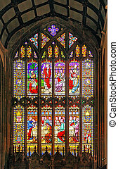 The Last Supper - A beautiful stained glass window in All...