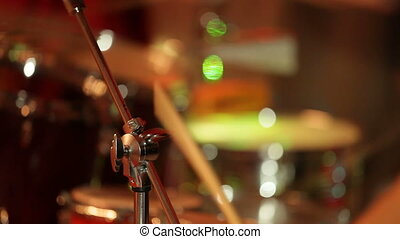 Drummers at a concert - Drummers performing live at a...
