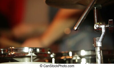 Percussion instruments - Musicians playing percussion...