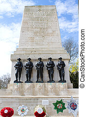 Memorial at Horseguards in St. James's Park, circa March...