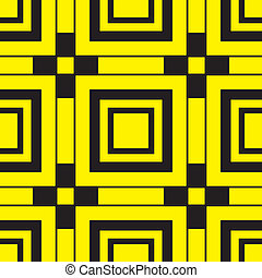 Black and Yellow abstract corner shapes background