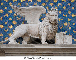 Winged lion of Venice - The winged lion of St. Mark is the...