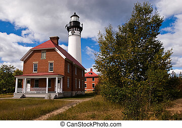 Great Lakes Lighthouse - Au Sable Light Station Pictured...