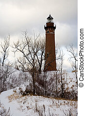 Great Lakes Light House Little Sable Lighthouse on Lake...