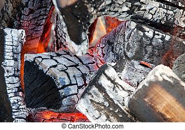 fuego, madera