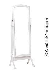 Full length dressing mirror on stand. Folding free-standing...