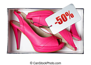 Pink female summer shoes