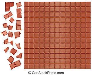 Milk chocolate bar with crushed pie