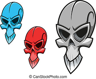 Scary skull - Dead scary skull for tattoo or halloween...
