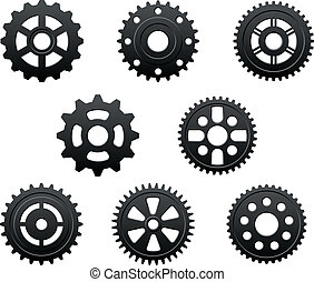 Pinions and gears set for any industrial design