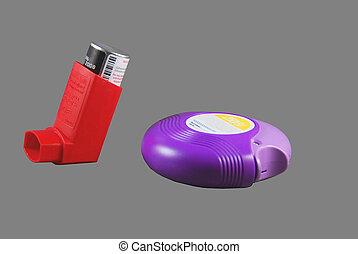 Medical Inhalers - Photographed medical inhalers for...