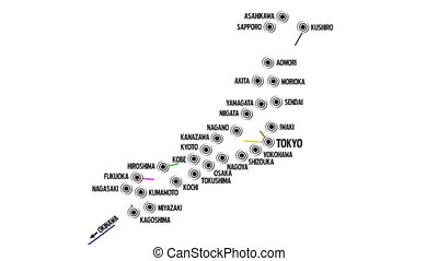Japan Cities Subway Map Design 1