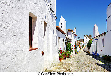 Street of Terena village, Portugal