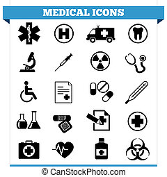 Medical Icons Vector Set - Vector set of medical web icons...