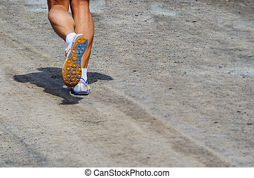 Legs of a man running
