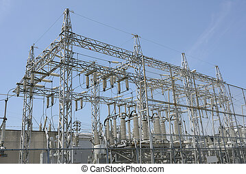 Electrical power substation - Electric power transformation...
