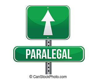 paralegal road sign illustration design over a white...